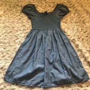 H&M mama denim baby doll maternity mini dress